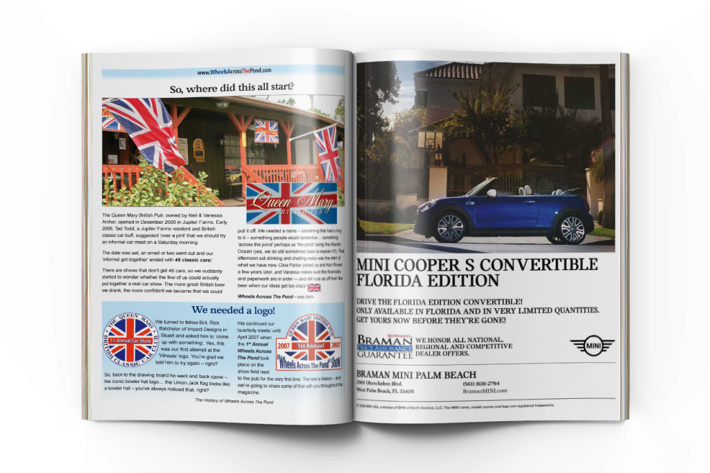 Wheels Across the Pond Inside page spread