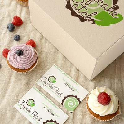 Cupcake Patch box and business cards