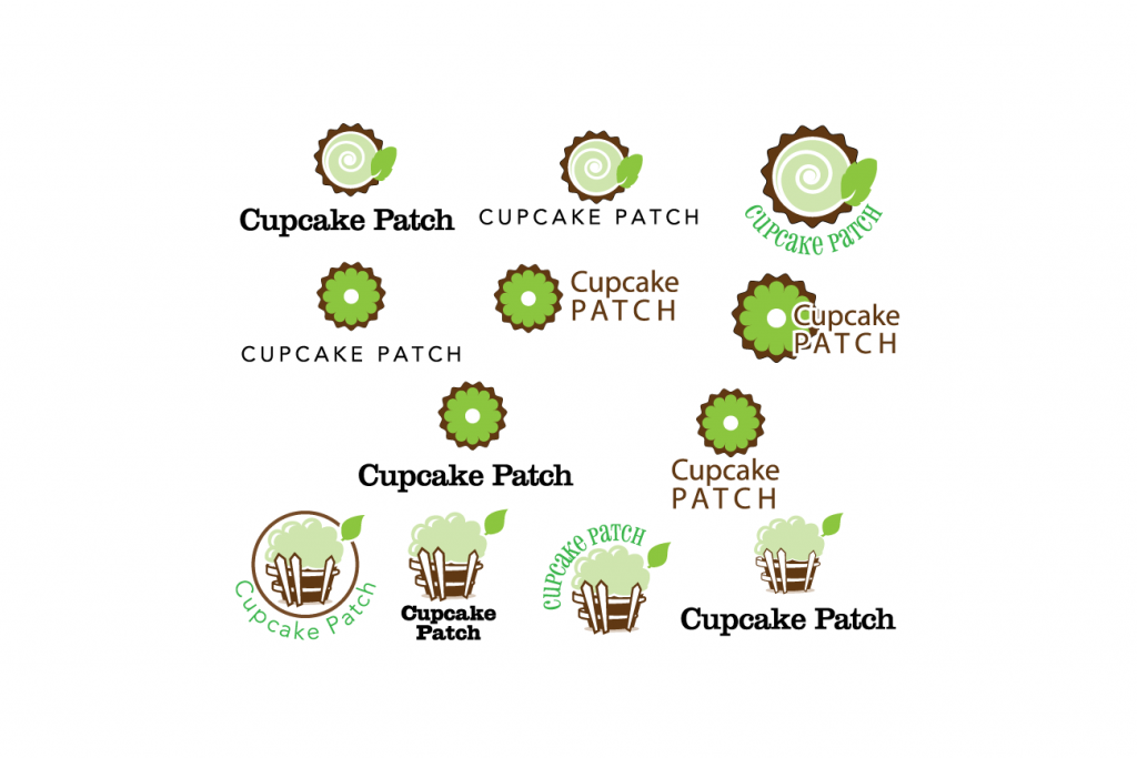 Cupcake Patch icons and Text treatment