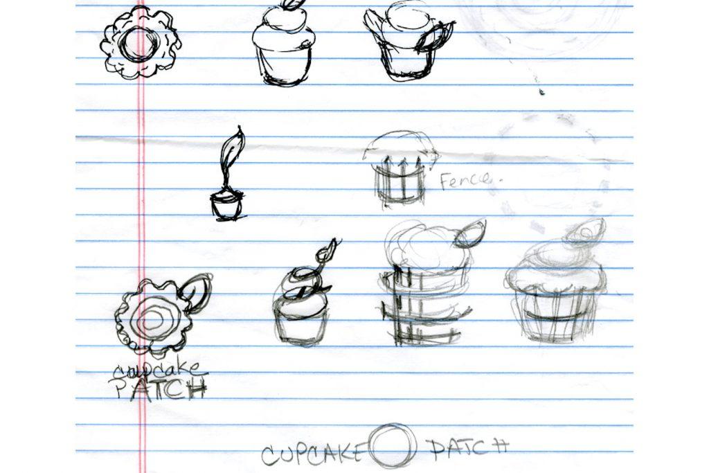 Cupcake Patch rough Sketch
