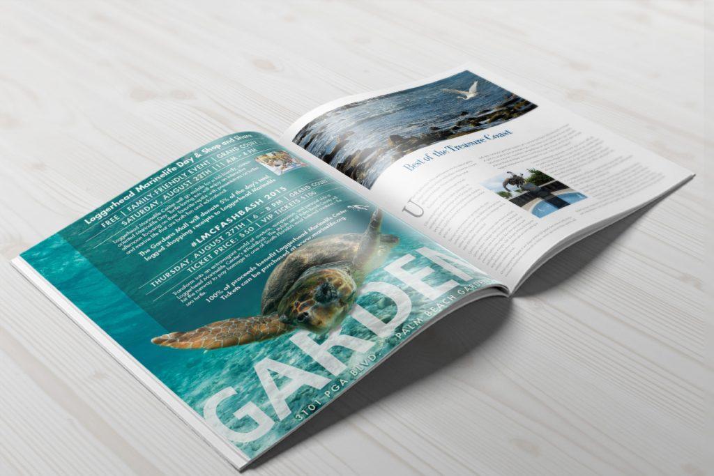 Gardens Mall ad in magazine spread