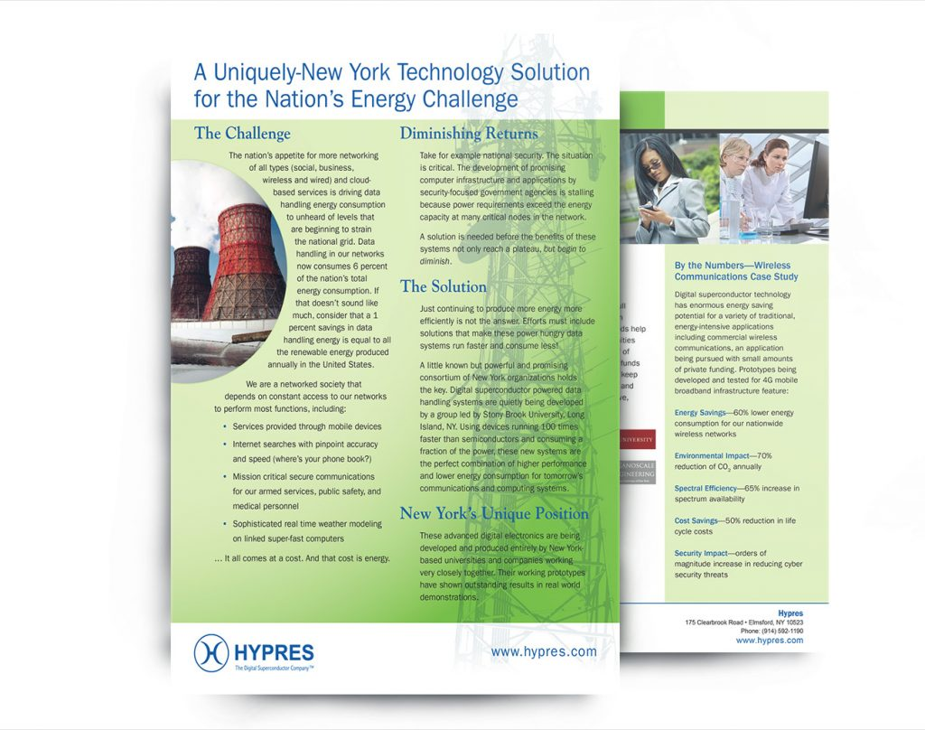 Hypres front and back sales flyer