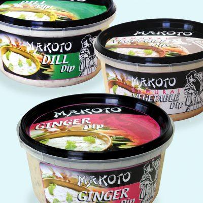 makoto brand dip packaging