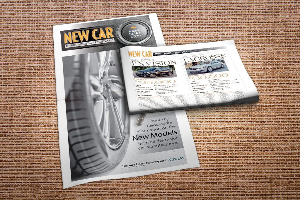New Car Preview print special section