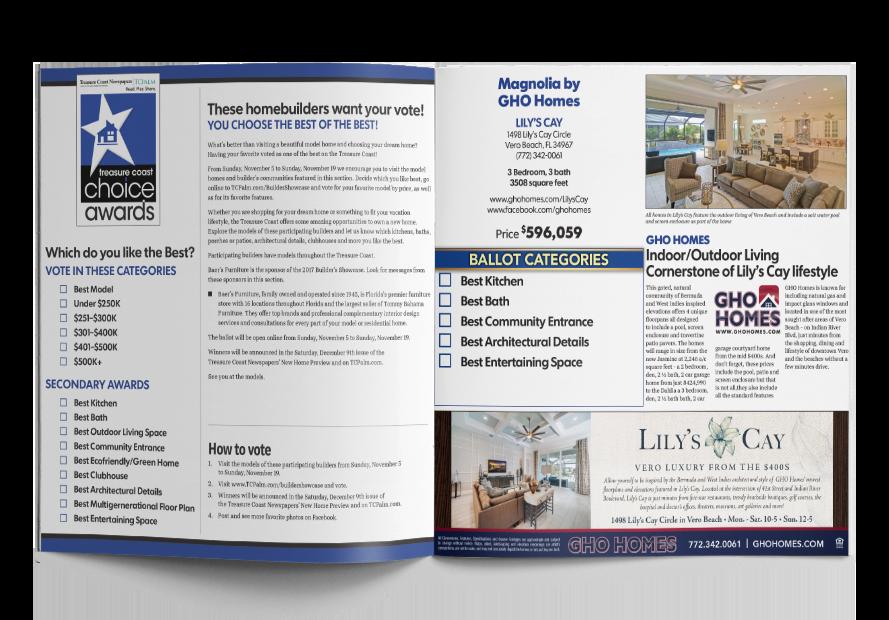 Builders Showcase Inside Page Spread