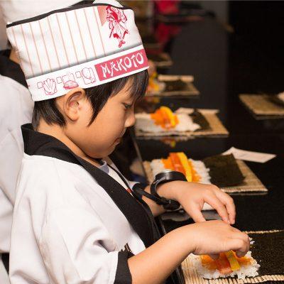 Makoto kids menu chef hat child