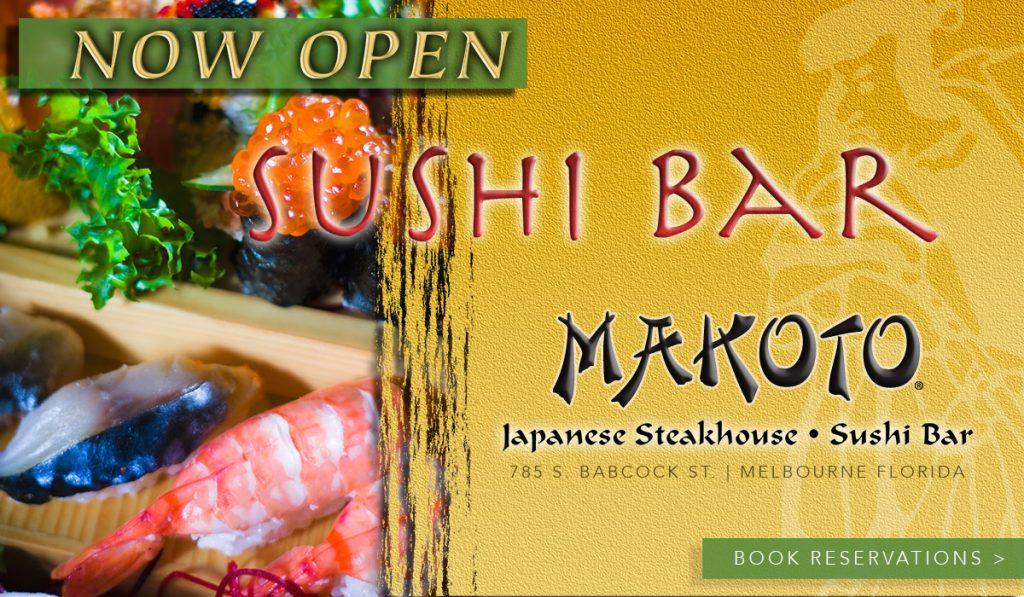 Sushi Bar at Makoto grand opening ad
